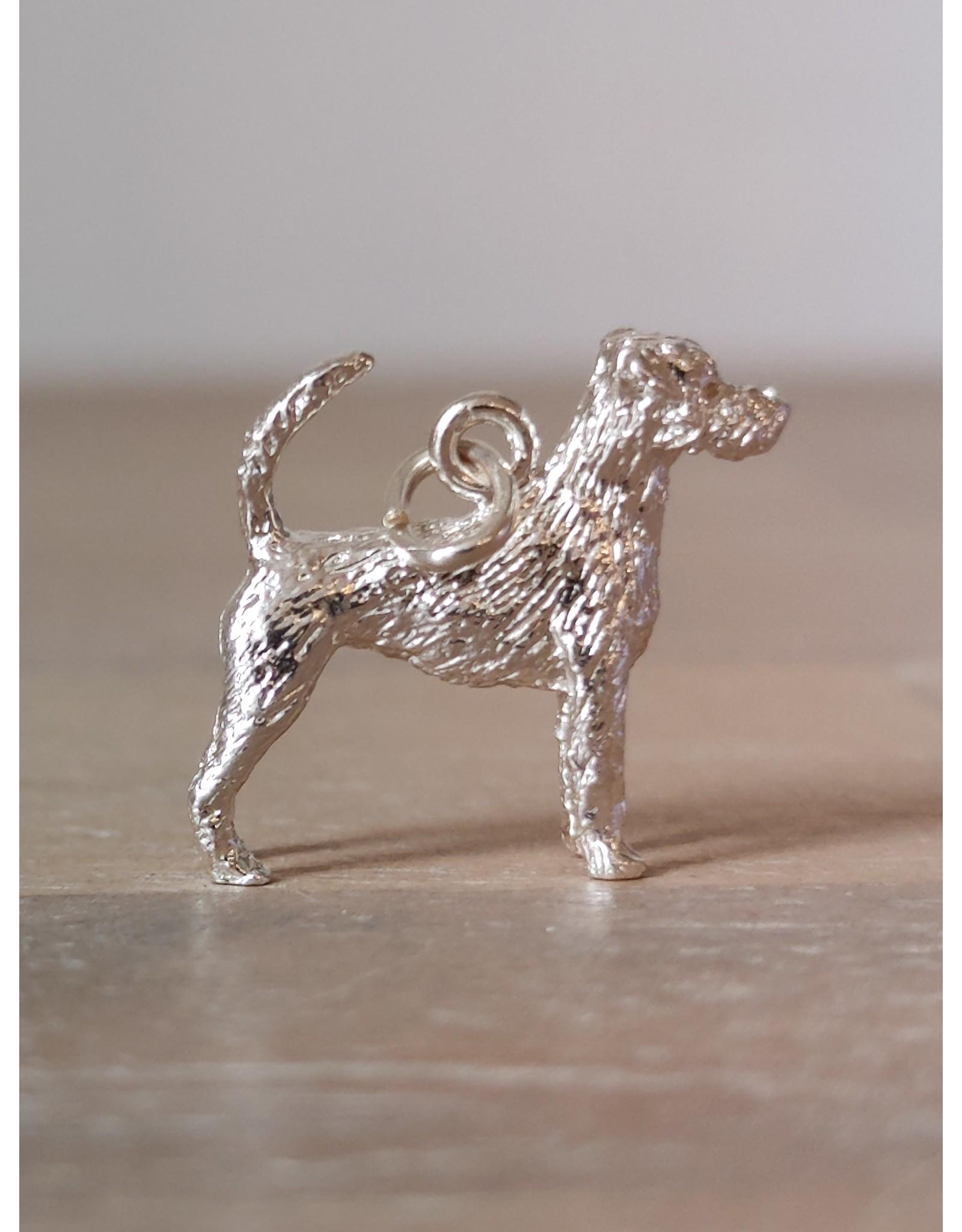 Handmade by Hanneke Weigel Zilveren Parson jack russel terrier ruwhaar