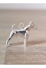 Handmade by Hanneke Weigel Sterling silver Fox terrier smooth