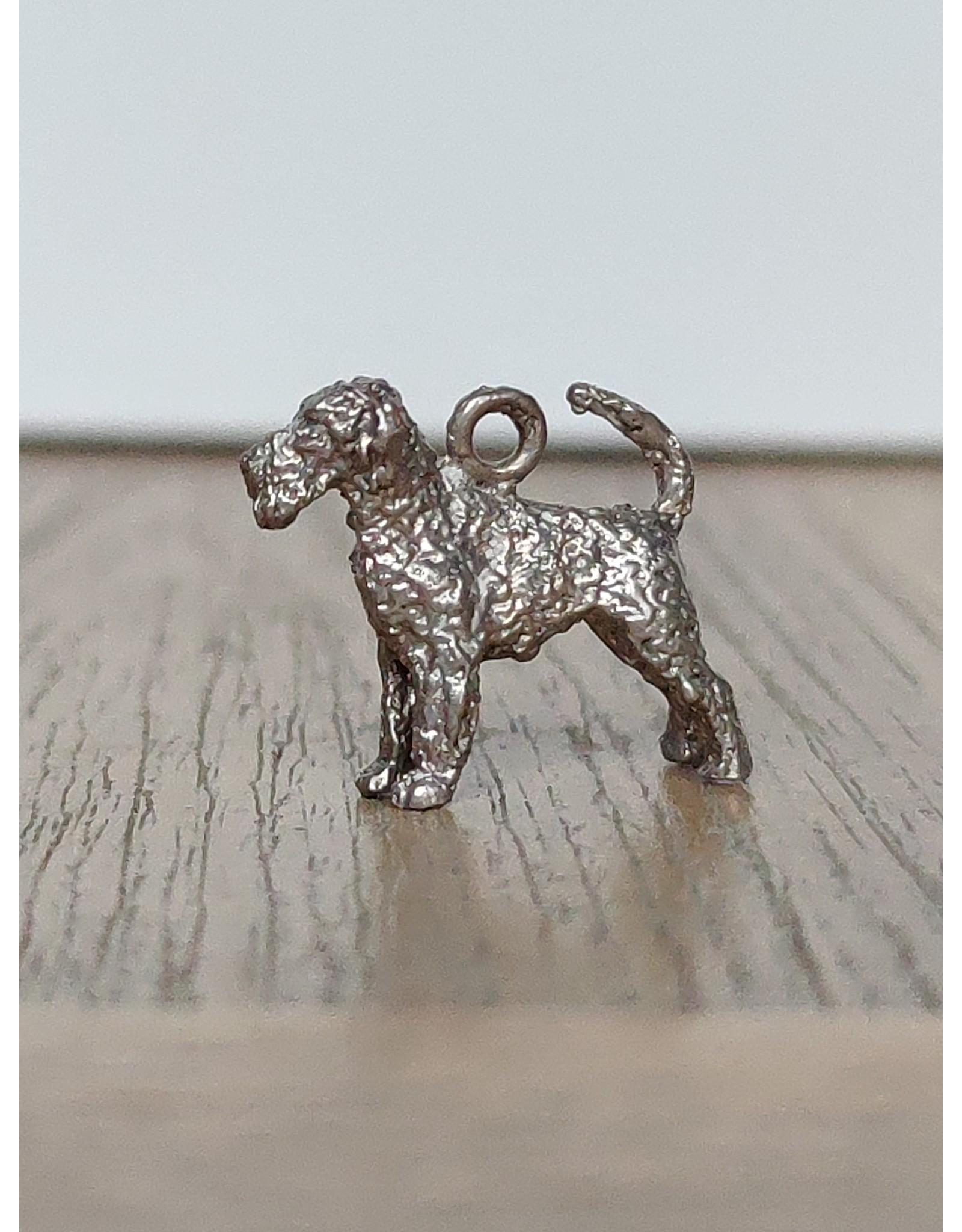Handmade by Hanneke Weigel Sterling silver Airdale terrier