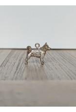 Handmade by Hanneke Weigel Zilveren akita inu