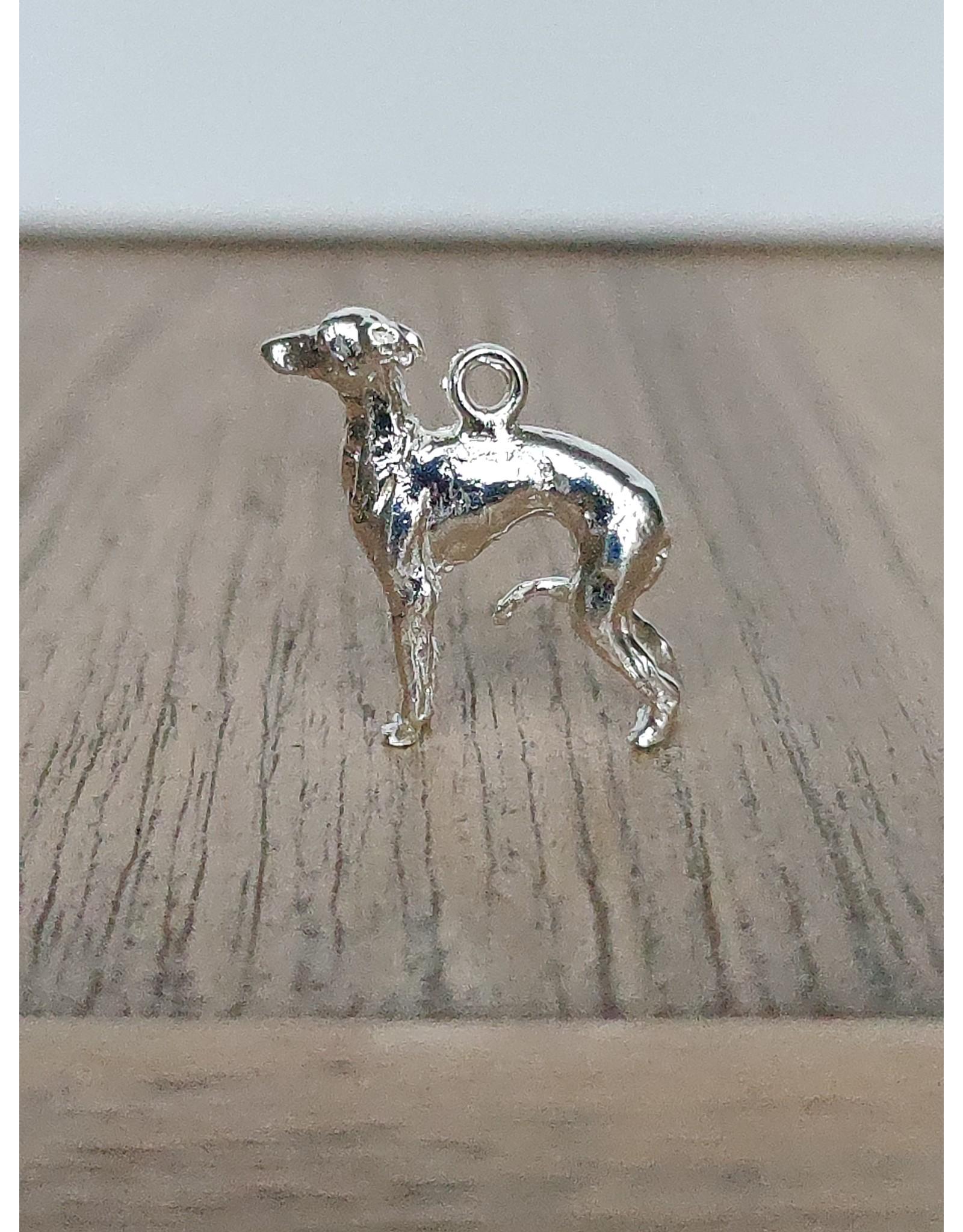Handmade by Hanneke Weigel Sterling silver Italian greyhound