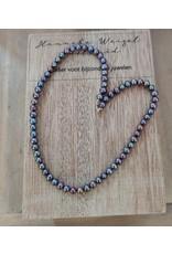 Handmade by Hanneke Weigel Parelketting peacock 5.5 - 6.0 mm