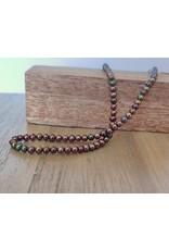 Handmade by Hanneke Weigel Pearl necklace brons 4.0-4.5 mm