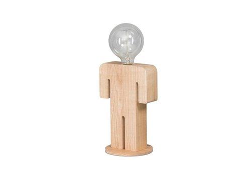 Tafellamp houten mannetje Adam