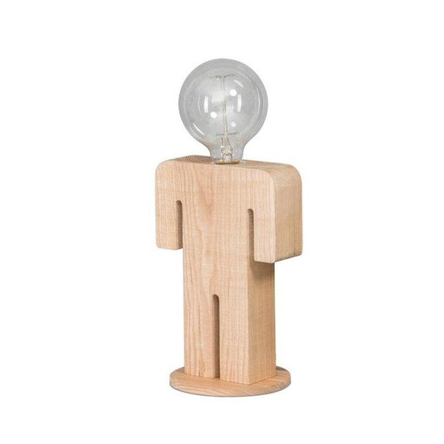 Tafellamp houten mannetje Adam in twee maten-1