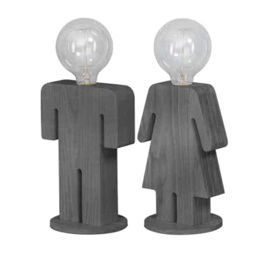 Tafellamp houten vrouwtje Eve in twee maten-6