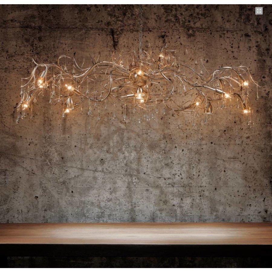 Hanglamp COMO ovaal 170 cm bladzilver-4