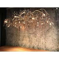 thumb-Hanglamp COMO ovaal 170 cm bladzilver-6