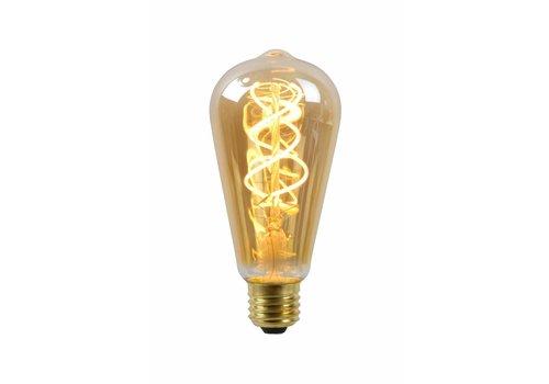 Dimbare LED filament lamp Ø 6,4 cm cm met kooldraadlamp-effect