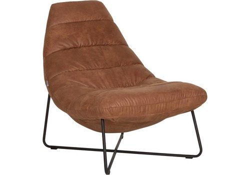 Lounge chair Line bruin