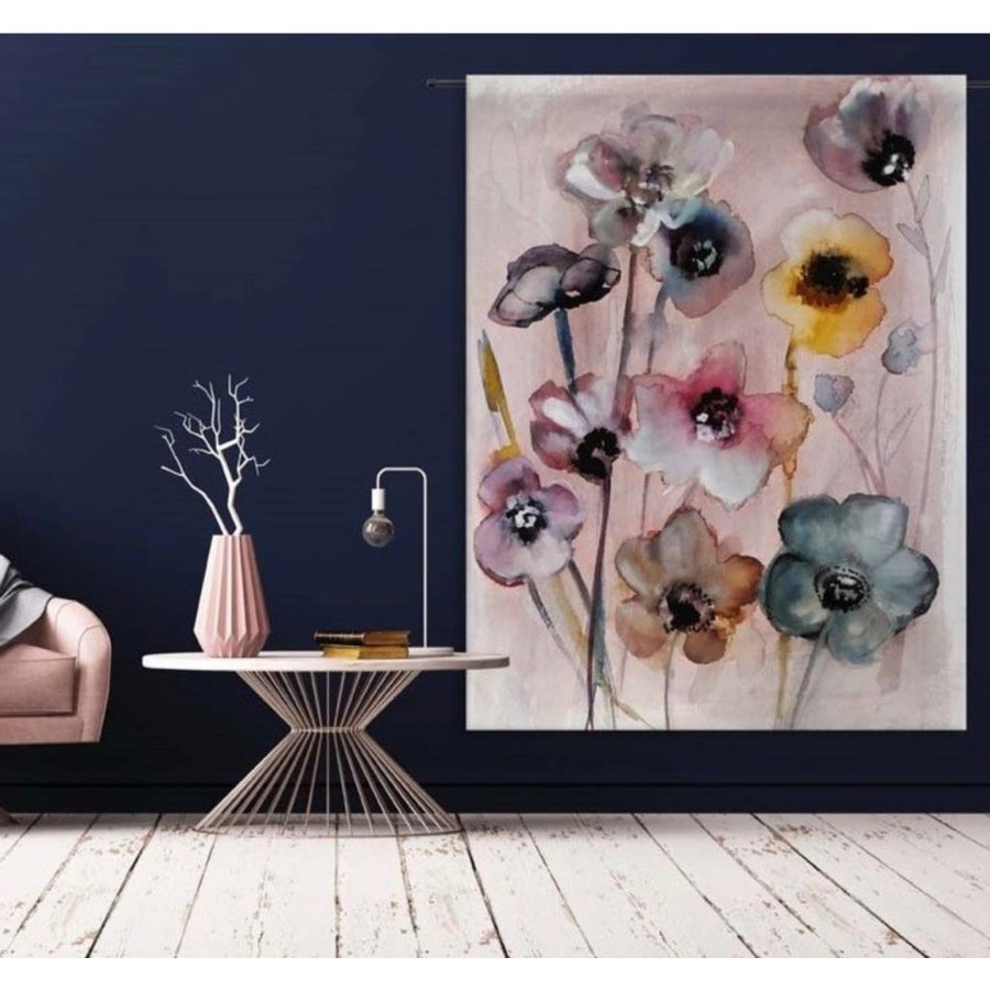 Urban Cotton wandkleed Flowers in Soft Hues van Charlotte Greeven op 100% biologisch katoen-1