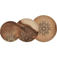 thumb-Trays Mandala set van drie houten schalen in 3xØ18 cm, 4xØ22 cm en 4xØ28 cm-1