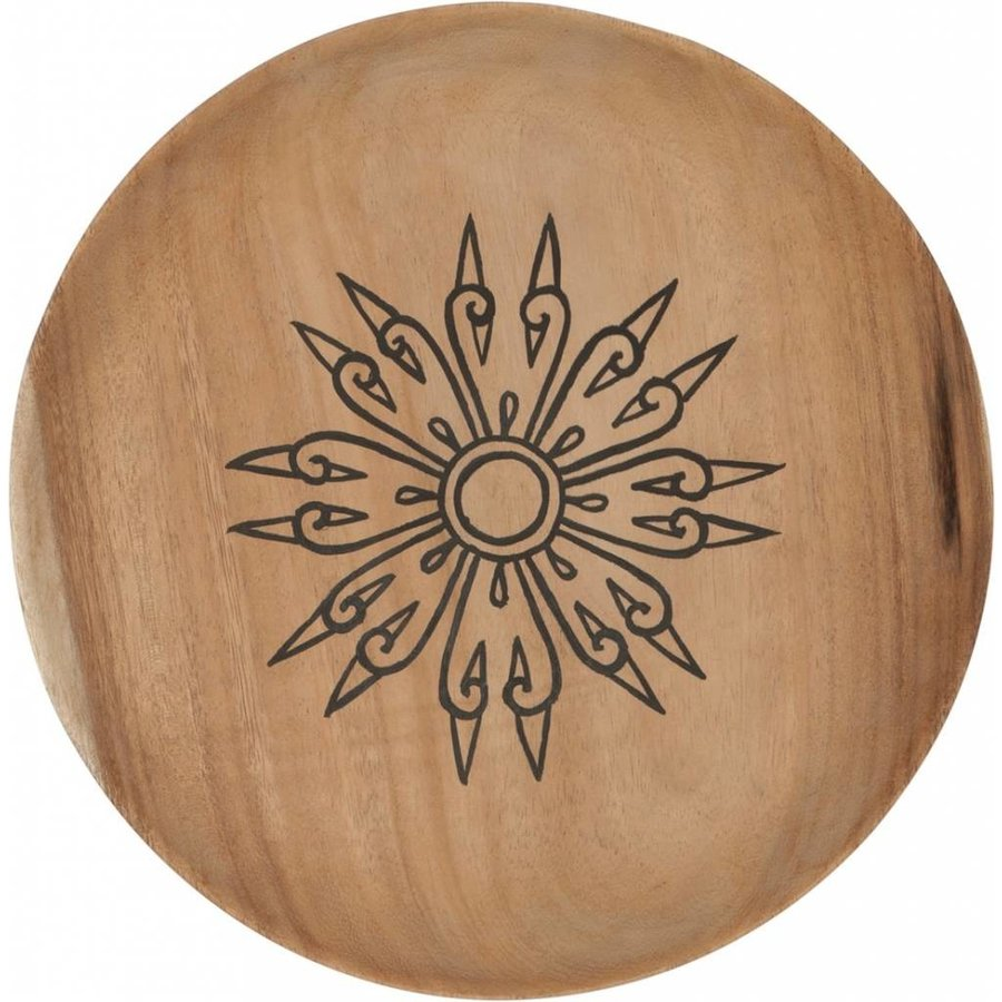 Trays Mandala set van drie houten schalen in 3xØ18 cm, 4xØ22 cm en 4xØ28 cm-2