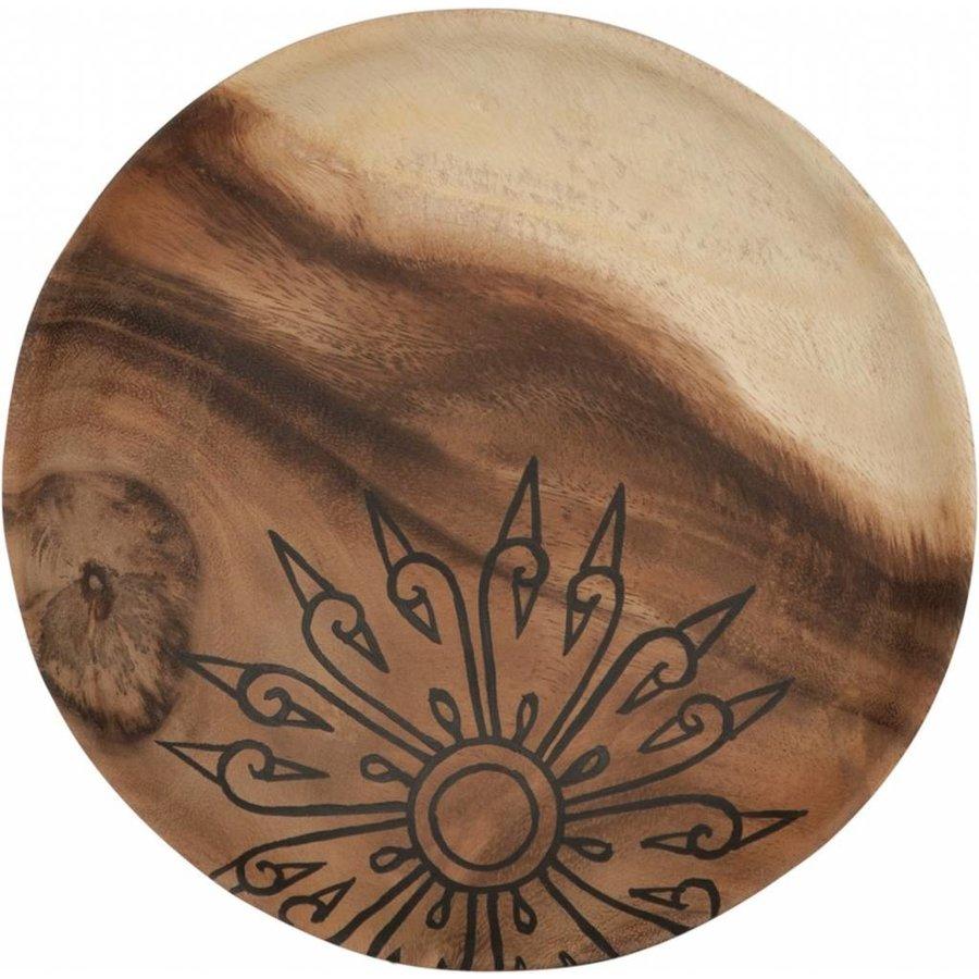 Trays Mandala set van drie houten schalen in 3xØ18 cm, 4xØ22 cm en 4xØ28 cm-3