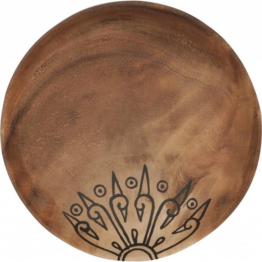 Trays Mandala set van drie houten schalen in 3xØ18 cm, 4xØ22 cm en 4xØ28 cm-4