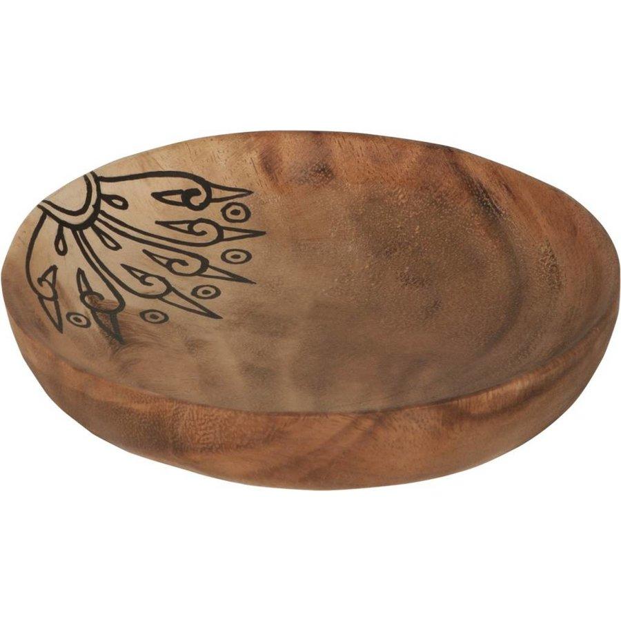 Trays Mandala set van drie houten schalen in 3xØ18 cm, 4xØ22 cm en 4xØ28 cm-5