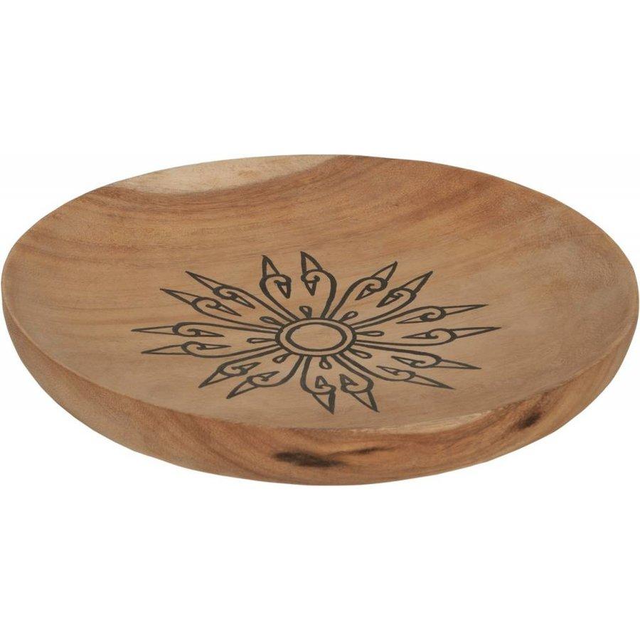Trays Mandala set van drie houten schalen in 3xØ18 cm, 4xØ22 cm en 4xØ28 cm-7