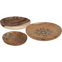 thumb-Trays Mandala set van drie houten schalen in 3xØ18 cm, 4xØ22 cm en 4xØ28 cm-8