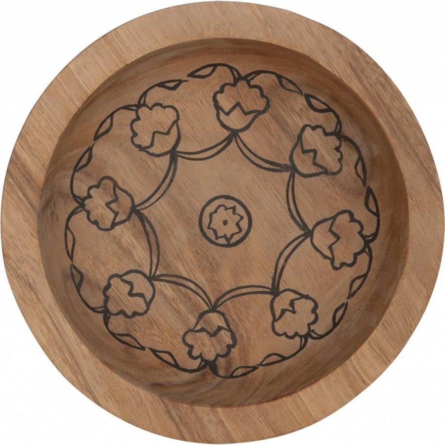 Bowls Mandela set van twee diepe houten schalen in 7xØ24 cm en 10xØ29 cm-2