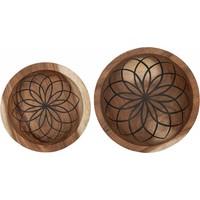 thumb-Bowls Mandala Lotus set van twee diepe houten schalen ø25 en ø30 cm-2