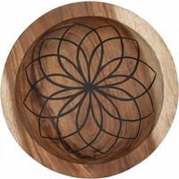 thumb-Bowls Mandala Lotus set van twee diepe houten schalen ø25 en ø30 cm-3