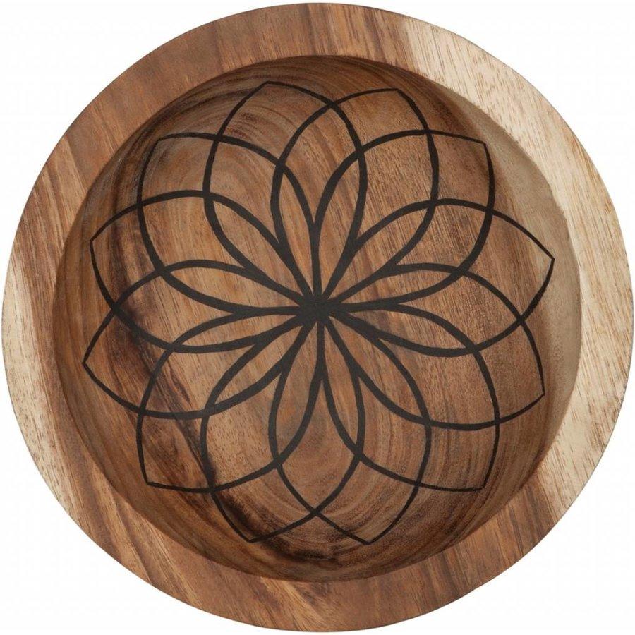 Bowls Mandala Lotus set van twee diepe houten schalen ø25 en ø30 cm-3