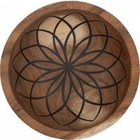 thumb-Bowls Mandala Lotus set van twee diepe houten schalen ø25 en ø30 cm-4