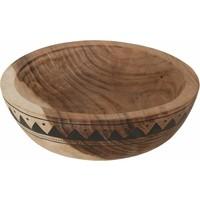 thumb-Bowl Mandala Aztec diepe houten schaal van ø30 x h10  cm-1
