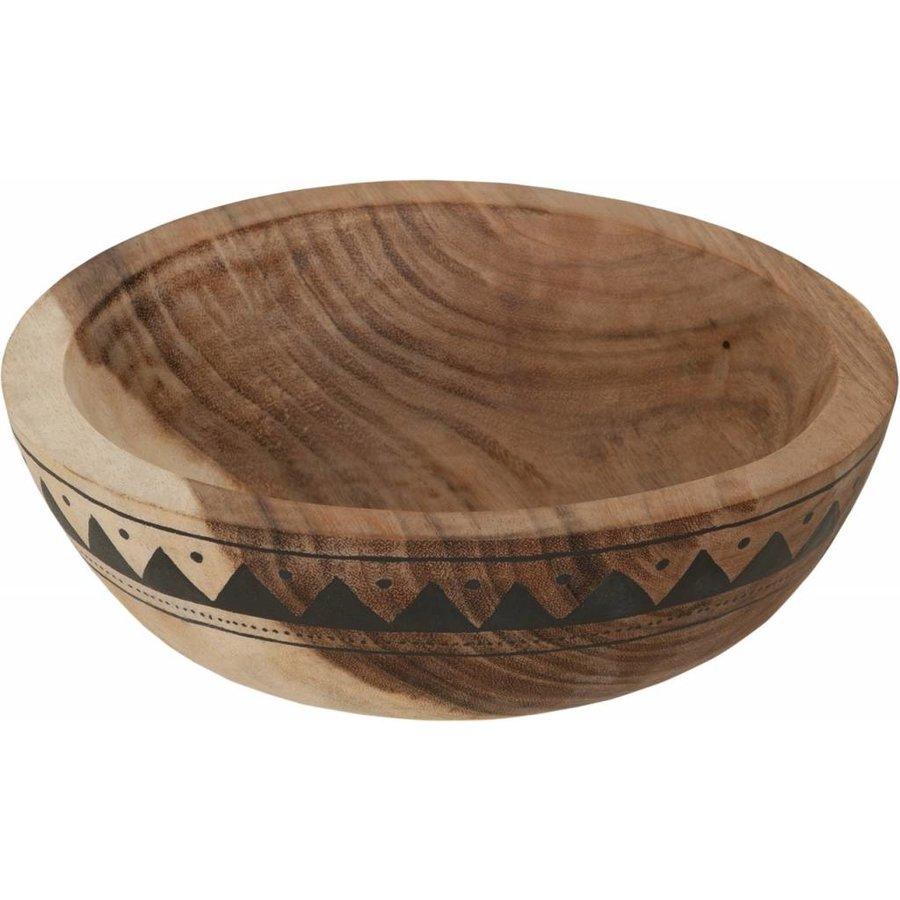 Bowl Mandala Aztec diepe houten schaal van ø30 x h10  cm-1