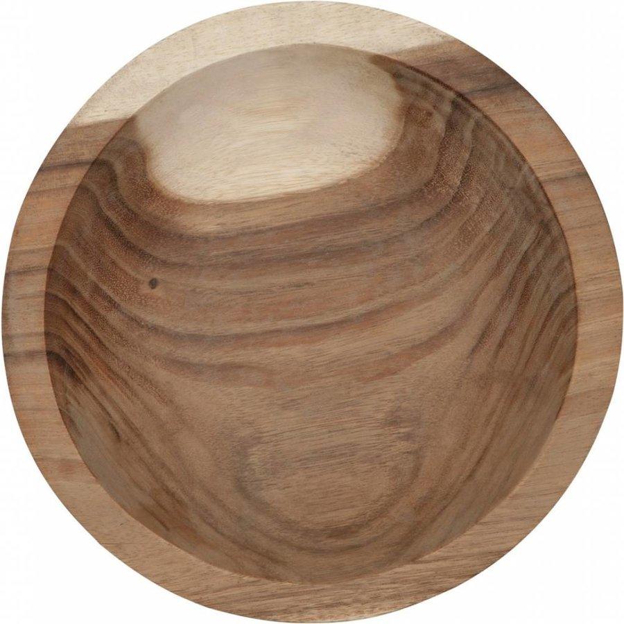 Bowl Mandala Aztec diepe houten schaal van ø30 x h10  cm-2