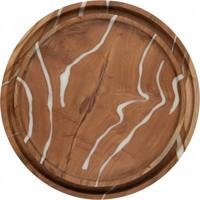 thumb-2-delige set houten schalen Cream in ø30 en ø35 cm-1