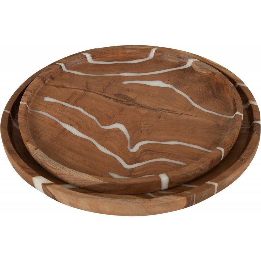 Must Living houten schalen Cream set van 2-2
