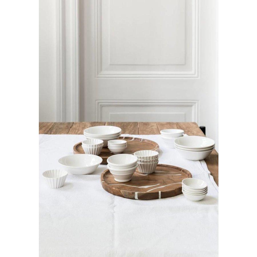 2-delige set houten schalen Cream in ø30 en ø35 cm-3