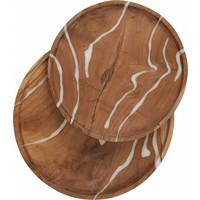 thumb-2-delige set houten schalen Cream in ø30 en ø35 cm-4