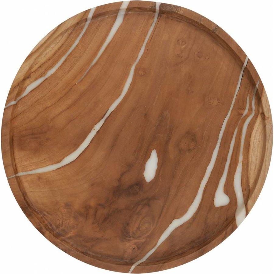 2-delige set houten schalen Cream in ø30 en ø35 cm-5
