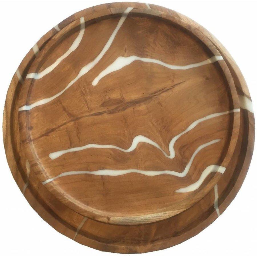 Must Living houten schalen Cream set van 2-6