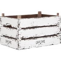 thumb-Great Crate hoge witte houten krat Large-1