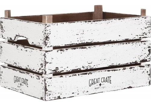 Great Crate witte houten krat Large
