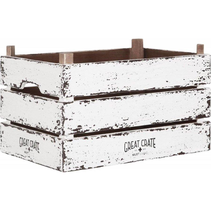 Great Crate hoge witte houten krat Large-1