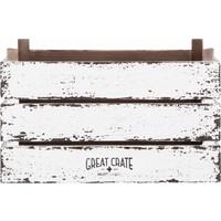 thumb-Great Crate hoge witte houten krat Large-2