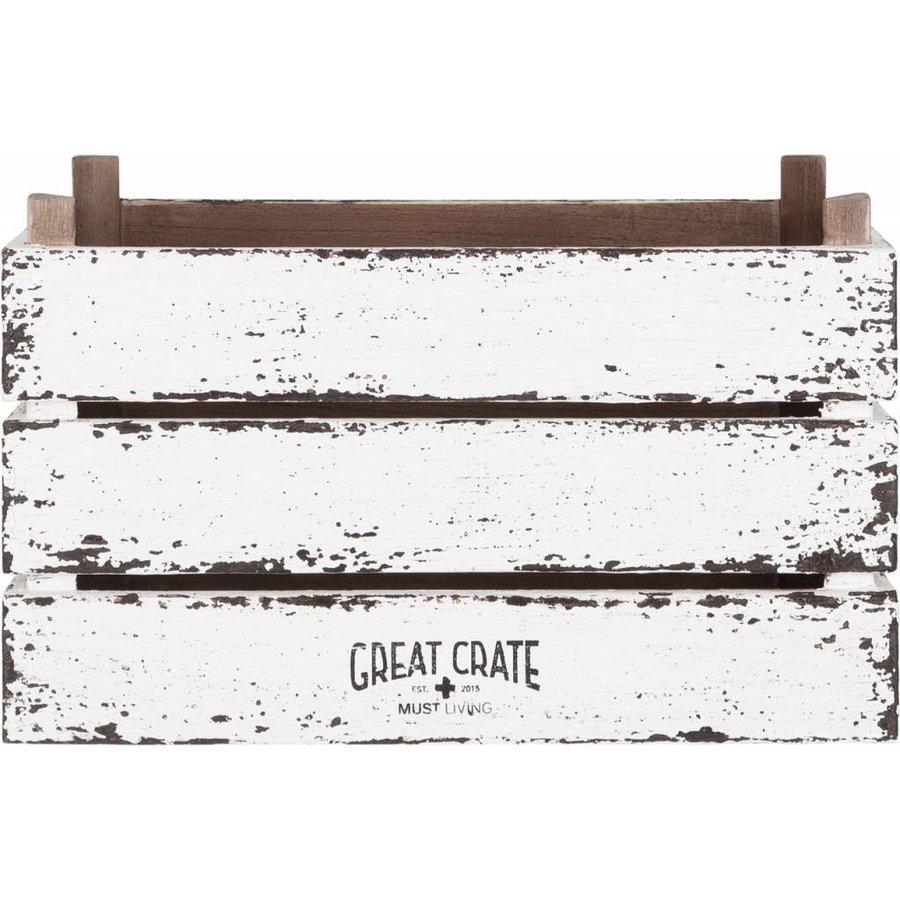 Great Crate hoge witte houten krat Large-2