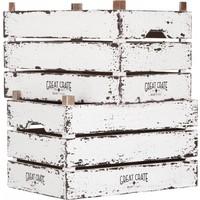 thumb-Great Crate hoge witte houten krat Large-4