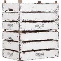 thumb-Great Crate hoge witte houten krat Large-5