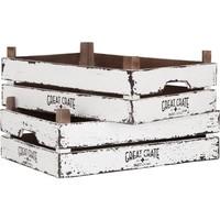thumb-Great Crate lage witte houten krat 12x45x30 cm-3