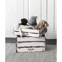 thumb-Great Crate lage witte houten krat 12x45x30 cm-5