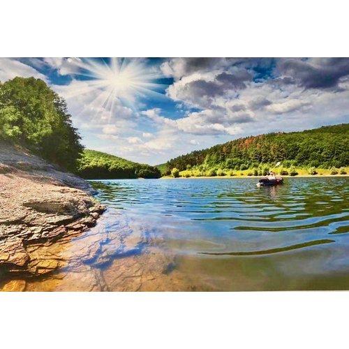 Aluminium schilderij River 120x80 cm