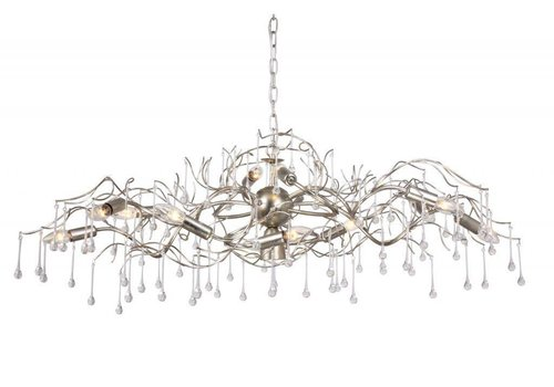 Hanglamp COMO ovaal 120 cm bladzilver