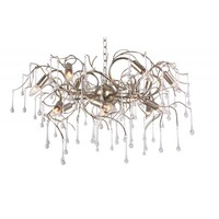 thumb-Hanglamp COMO rond 80 cm in bladzilver of brons-1