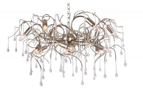 Hanglamp COMO rond 80 cm bladzilver