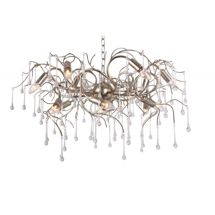 Hanglamp COMO rond 80 cm in bladzilver of brons-1